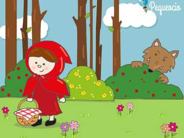 RIDING PUZZLE - RED RIDING HOOD AND THE WOLF IN THE FOREST