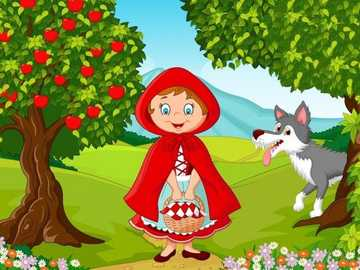 RIDING HOOD - PUZZLE OF RIDING HOOD AND THE WOLF