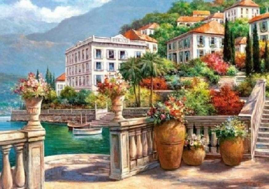 La peinture - Puzzle. Peinture de paysage (12×9)