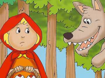 RING STORY - PUZZLE OF RIDING HOOD AND THE WOLF