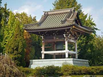 Świątynia - Japońska świątynia wśród drzew