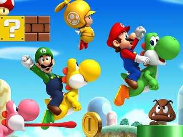 Układanka Mario Bross - Utwórz puzzle i odkryj obraz.