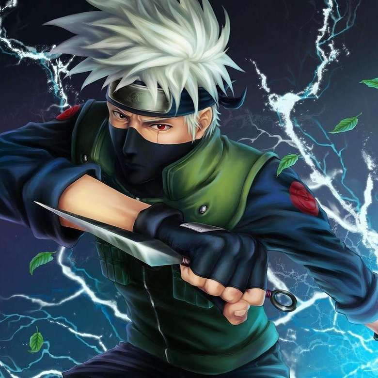 KAKASZKe - Kakashi Hatake. Jest jednym z bohaterów anime o tytule NARUTO (7×7)