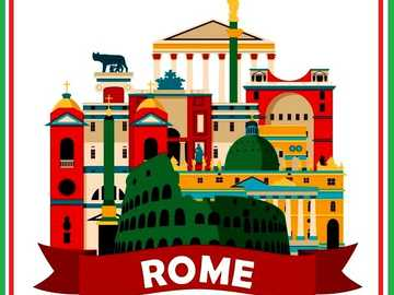 ROME MEANS ROMA - ARRANGE THE PICTURE ROME IN ITALIAN IS ROMA