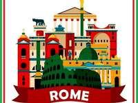 ROM BEDEUTET ROMA - ARRANGE DAS BILD ROM IN ITALIENISCH IST ROMA