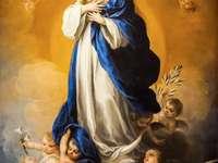 Jungfrau Maria in den Himmel gebracht - Jungfrau Maria in Herrlichkeit in den Himmel gebracht