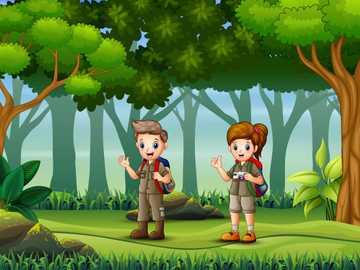 Wycieczka do lasu - Puzzle - wycieczka do lasu