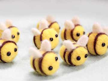 Słodkie pszczółki - Rój słodkich pluszowych pszczółek
