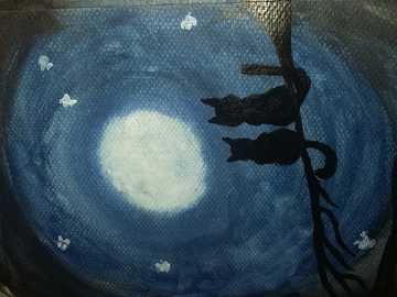 black cats on a black night on a black tree - Μου αρέσει αυτή η διάθεση, λίγο μυστηριώδη, λίγο λυπημέ
