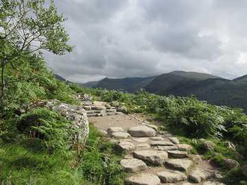 Mountain road - Path in Glen Nevis, Scotland