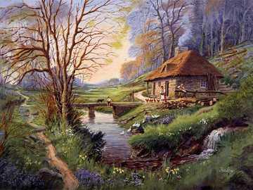 Painted landscape. - Puzzle: painted landscape.