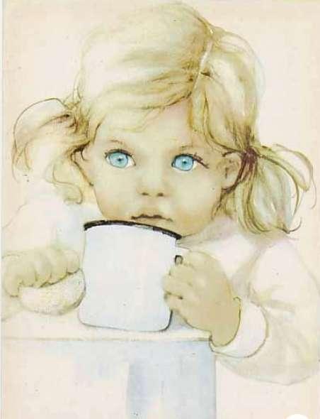 holčička s očima jak pomněnky (11×14)