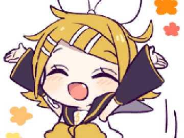 Kagamine Rin es muy alegre - Kagamine Rin te invita a resolver el rompecabezas