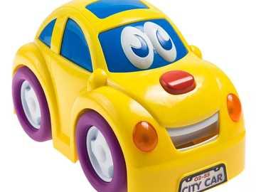 auto zabawka - Żółte auto zabawka dla dzieci
