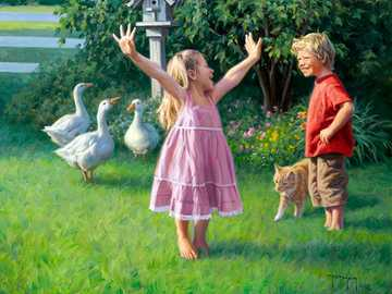 Good mood - Children, girls, boys.