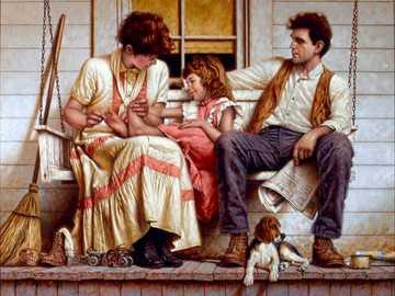 Szczęśliwa rodzina - Rodzina, radość, zabawa.