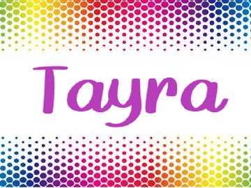 Rompecabezas Tayra - Romepcabezas de los nombres