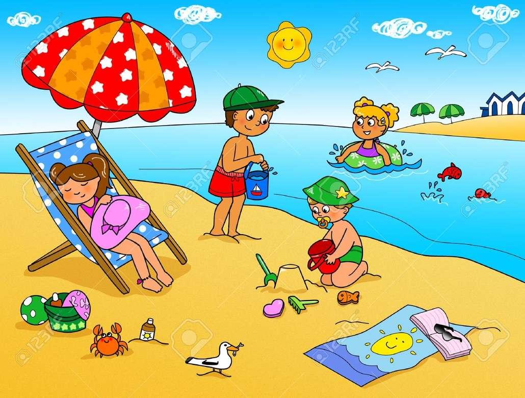 Деца на плажа - Деца на почивка (3×2)