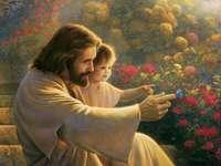 Jésus dans le jardin - Analyser l'image de Jésus