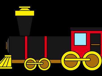 Kinderzug - Stichsägezug für Kinder, sehr einfach, 6 Elemente.
