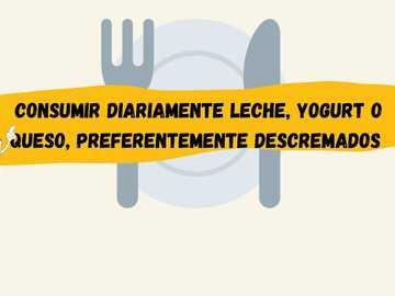 Mensaje alimentacion saludable - Una imagen con un mensaje de la guia poblacional arentina