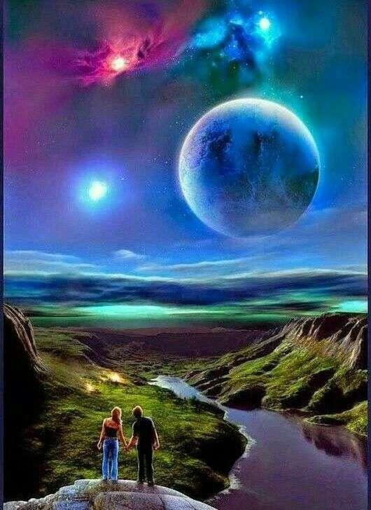 Красиво небе - Красиво небе по време на пълнолуние (8×11)