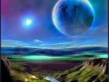 Beautiful sky - Beautiful sky during the full moon
