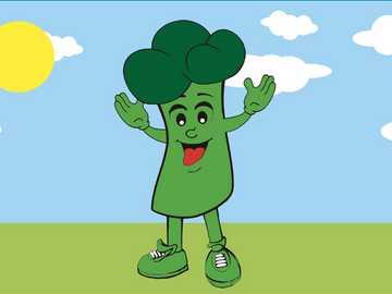 brokuły - rysunek dzieci kolorowanki