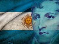 Manuel Belgrano, δημιουργός της σημαίας - Παζλ δημιουργήθηκε για παιδιά 5 ετών