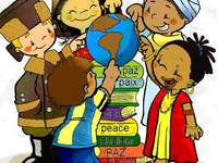 Interculturaliteit - Elk kind zal genieten, identificeren en bouwen van de puzzel om de verschillende culturen te ontdekk