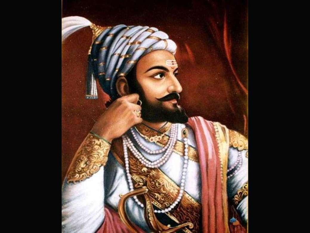 Chhatrapati Shivaji Maharaj - Shivaji Bhonsle är grundaren av Marathadynastin och en krigare kung av Maratha- eller Maharashtra-folket. Han är också känd som Chhatrapati Shivaji Maharaj (9×7)