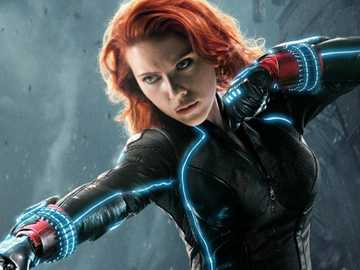 Black Widow - the beautiful Black Widow is a female Marvel character who is not afraid to speak her mind