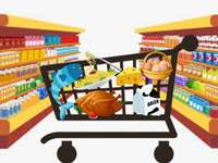 Alimente - Puzzle pentru a lucra cu mâncare pentru copii
