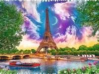 El cielo sobre París. - Rompecabezas. El cielo sobre París.