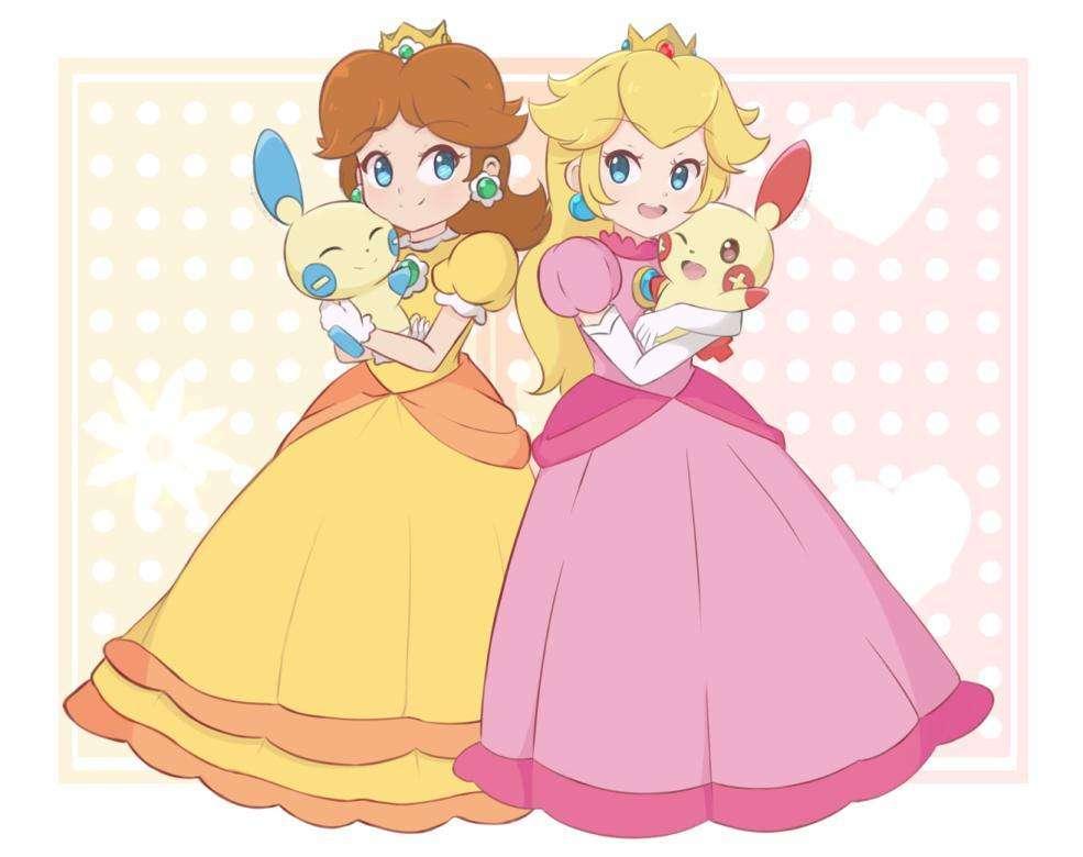 Pfirsich Cartoon Prinzessin Gänseblümchen ᐅRosalina von
