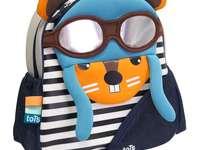 Férias de mochila - Mochila pré-escolar. Mochila de verão para crianças em idade pré-escolar.