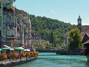 Switzerland - boulevard on the river ---------