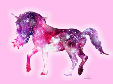 Cute unicorn - It is a cute galaxy unicorn.
