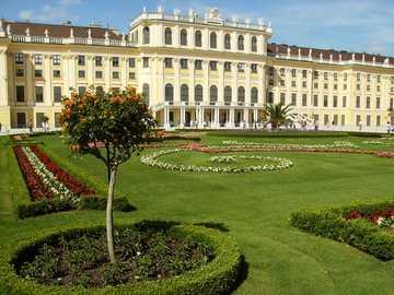 Castle and garden - Austrian castle with a garden
