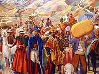 JUJEÑO EXODUS - O povo deixou suas casas, levando apenas o necessário e queimando o resto, para que o exército esp