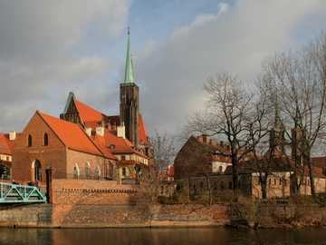 Wroclaw Cathedral - Old town. Wroclaw Cathedral