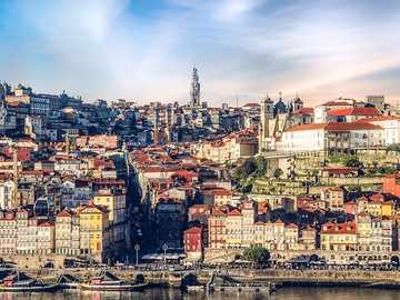 Panorama of Porto - city ​​view with old streets