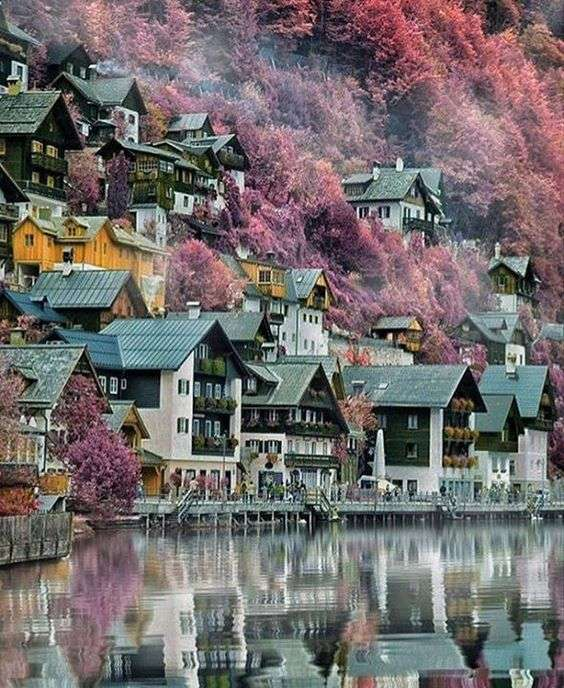 Село в полите на планината - Живописно село в полите на планината (12×15)