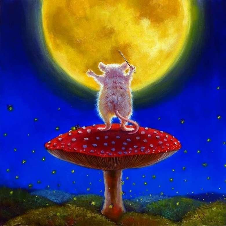 Малки мишки - Мишка, диригент, гъби, луна като сирене (9×9)