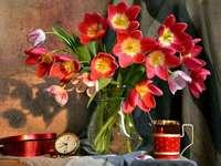 Virágok vázában.