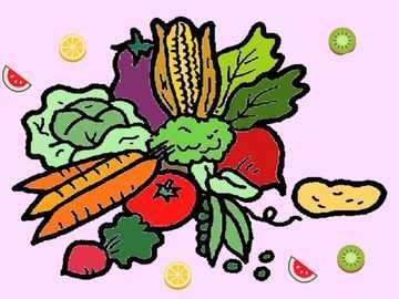 verduras - rompecabezas vegetal simple para niños