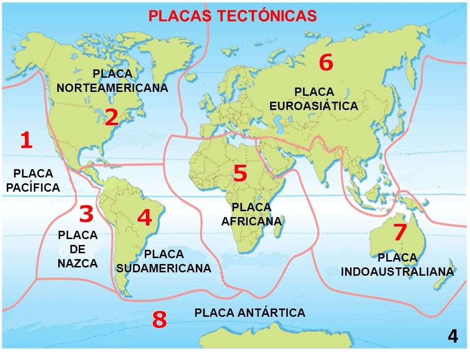 Płyty tektoniczne - Służy do dowiedzenia się, gdzie i jak nazywają się Płyty Świata (8×6)