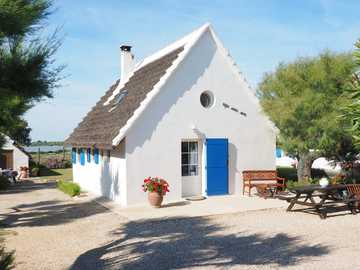holiday house - white and blue - the colors of Greek holidays