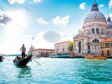 Venice :) - A view with Venetian gondolas