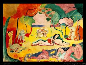 Henry MATISSE THE JOY OF LIVING - THE PAINTING IS THE TRANSCRIPTION OF THE VIRGILIO EGLOGA